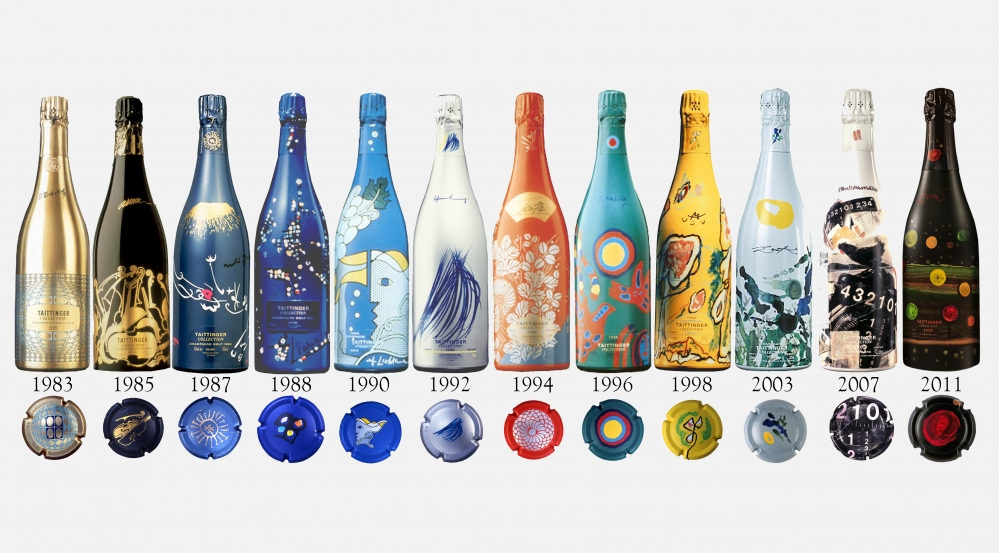 Колекция от серията Taittinger Artists Collection до реколта 2002